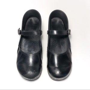 Dansko mary Jane Professional black clogs mules